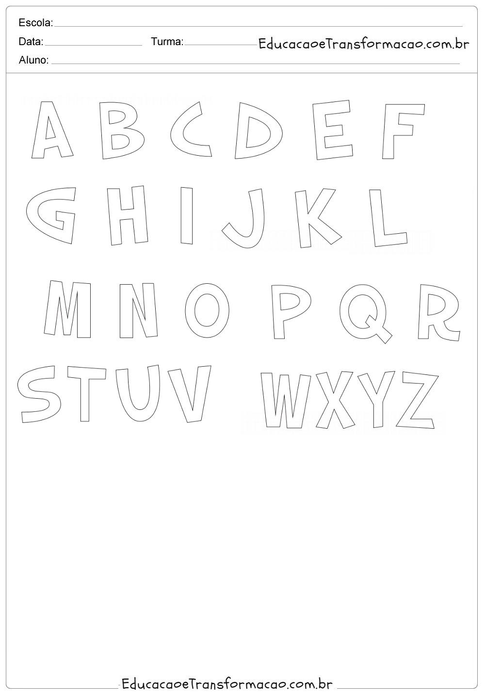 Letras Do Alfabeto Origem Do Abecedário E Moldes Para Imprimir