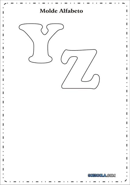 Moldes de Letras – Y – Z