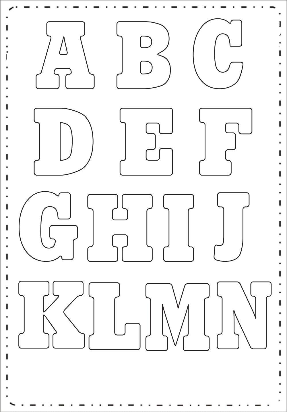Moldes de Letras Grandes para Imprimir - Letras Retas.