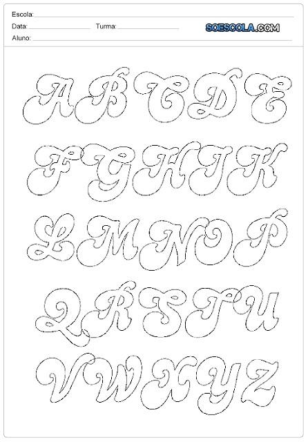 Moldes de Letras – Letras Personalizadas do Alfabeto.