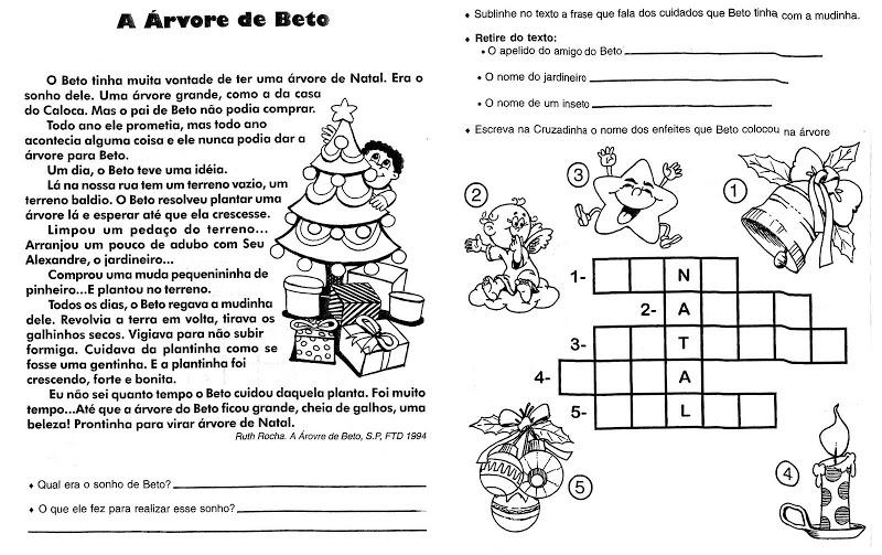 Atividades de Interpretação de Texto sobre Natal para Ensino Fundamental