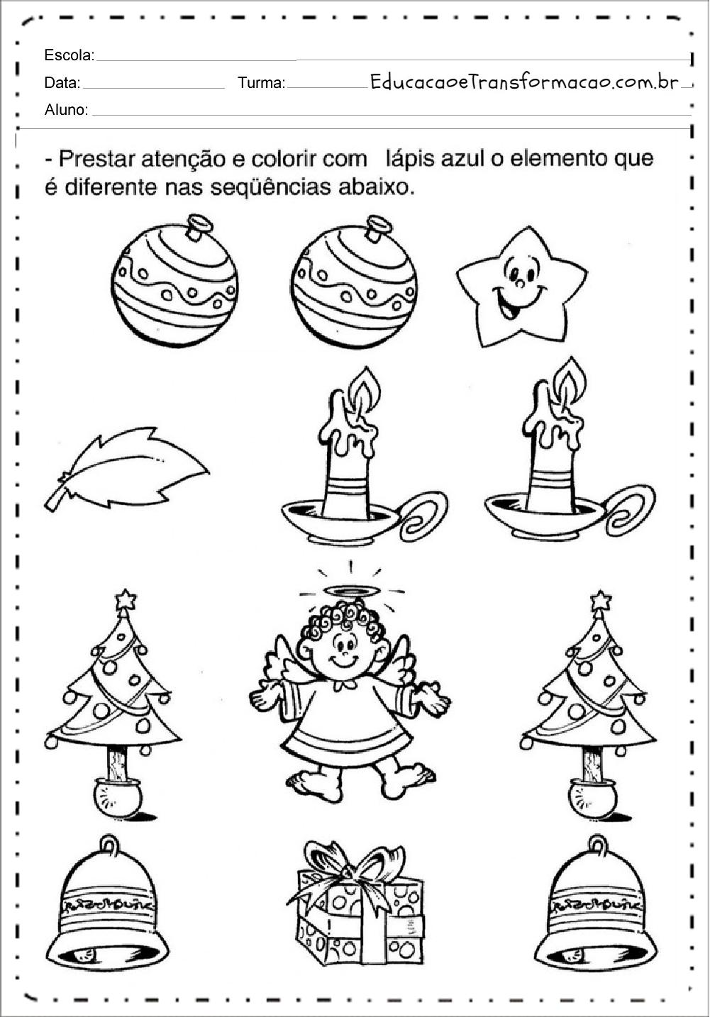 Colorir – Atividades de Natal.