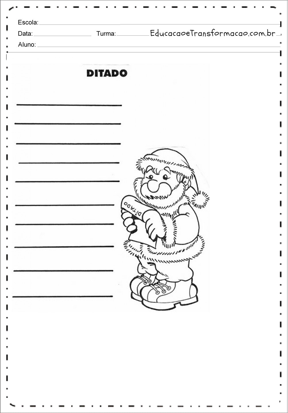 Ditado – Atividades de Natal.