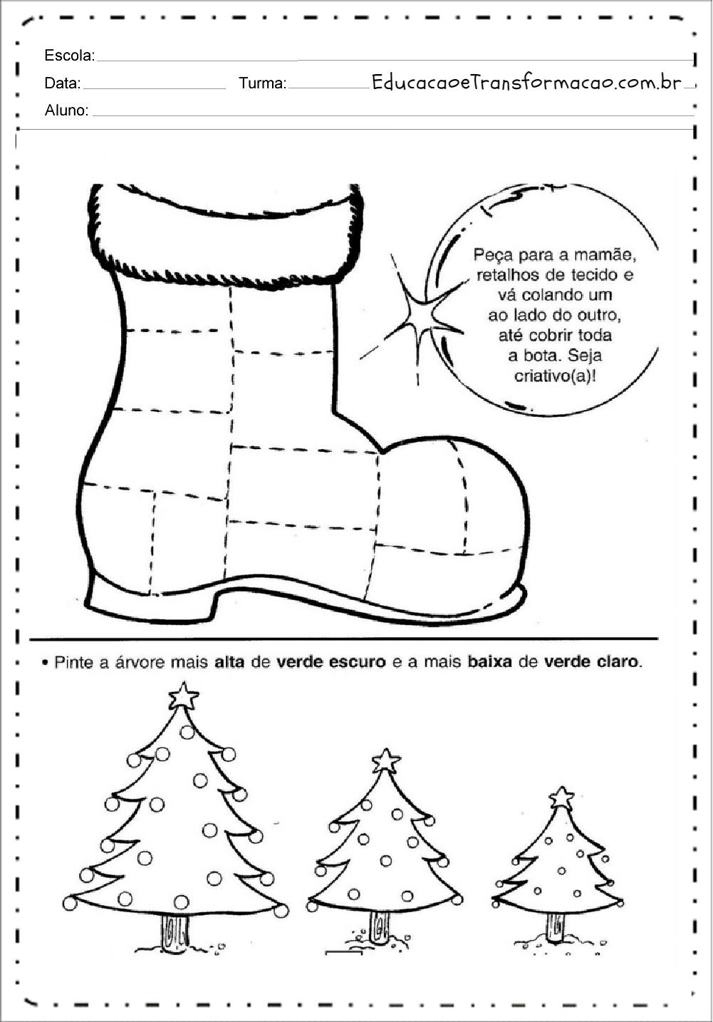 Pinte – Atividades de Natal.