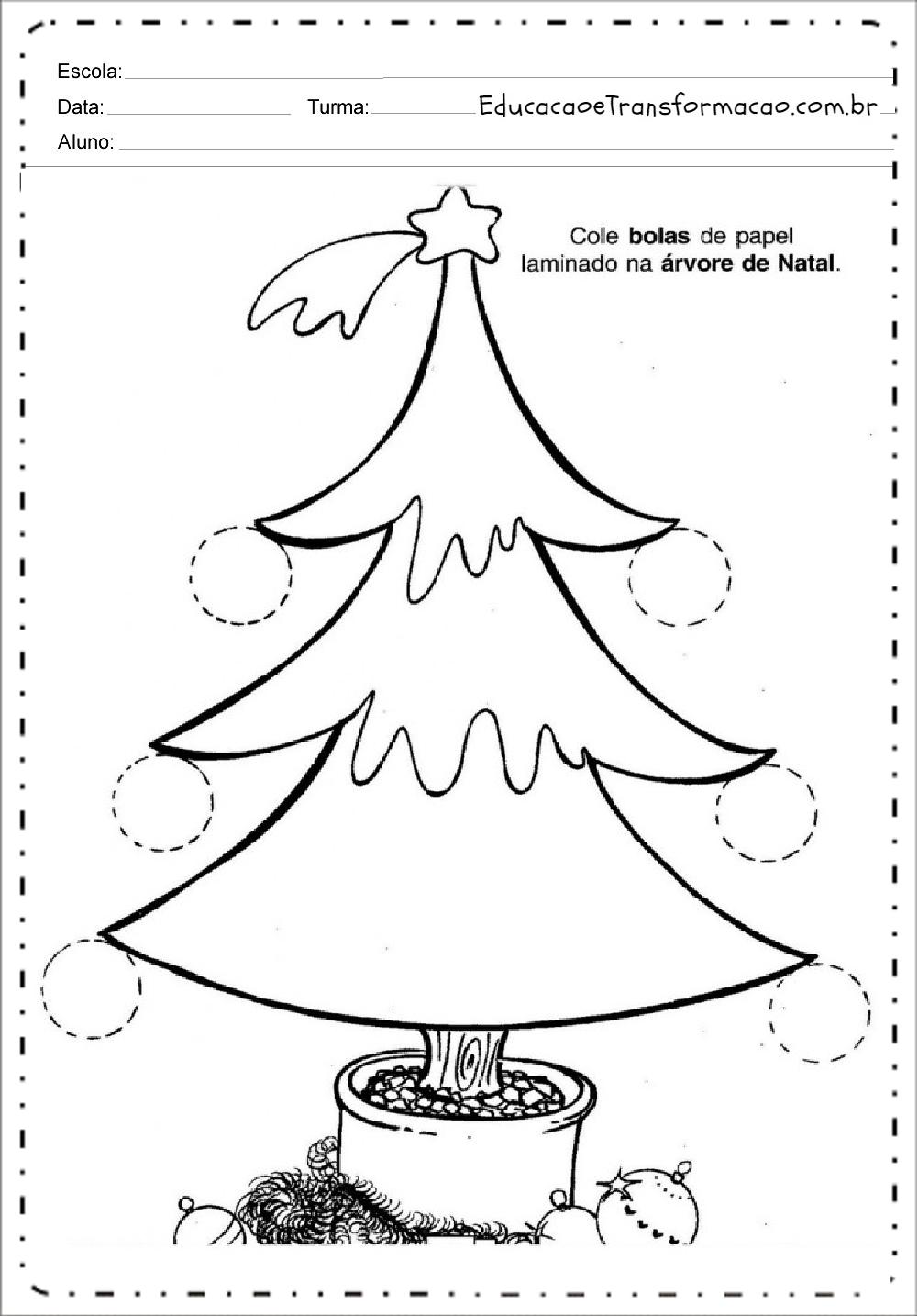 Recorte e Cole – Atividades de Natal.