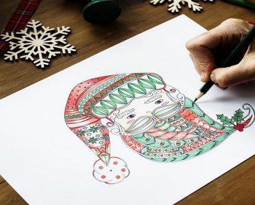 Desenhos de Natal para imprimir e colorir - Desenhos para pintar