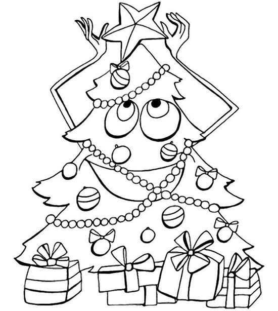 Desenhos de Natal para colorir – Arvore de Natal