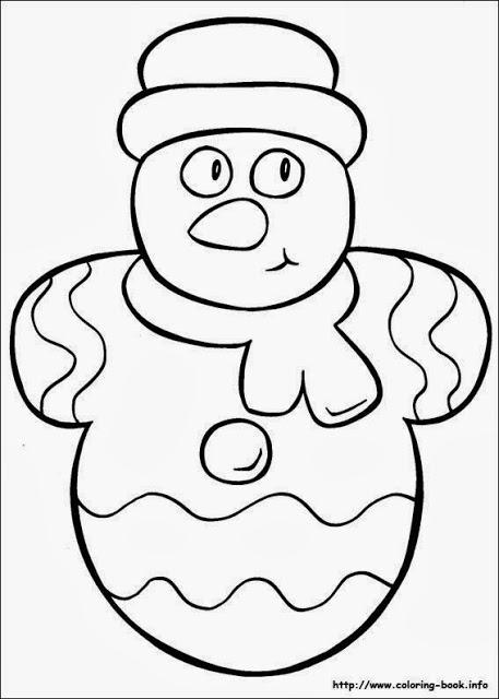 Desenhos de Natal para colorir – Boneco de Neve