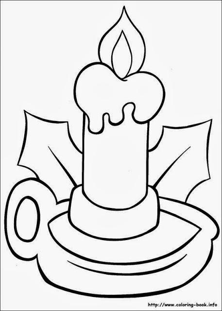 Desenhos de Natal para colorir – Vela