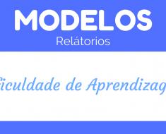 Modelo de Relatório dificuldade de aprendizagem
