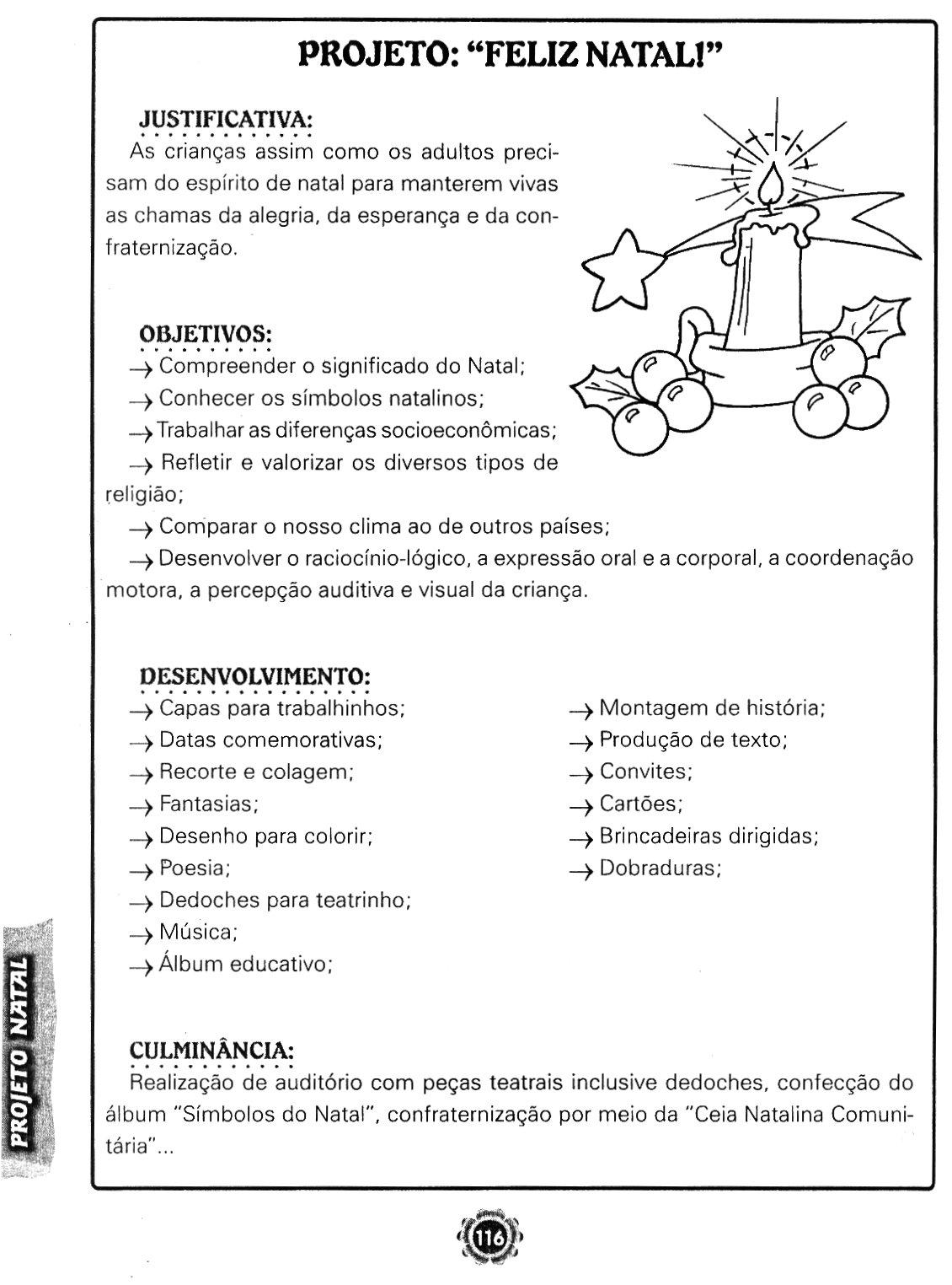 """Projeto Natal para Series iniciais """"Feliz Natal"""" - Educação Infantil"""