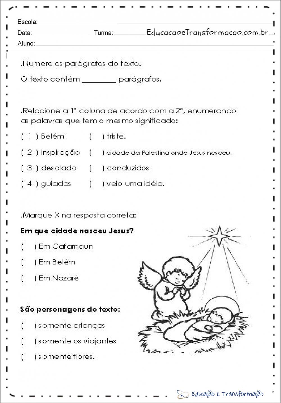 Atividades de natal 4 ano interpreta o de texto for Mural de natal 4 ano