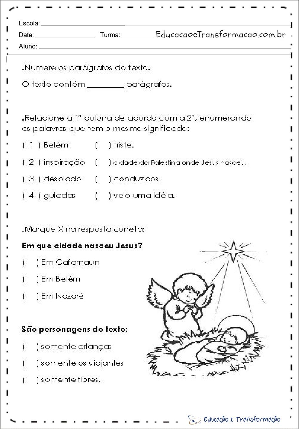 Atividades de Natal 4 ano do Ensino Fundamental