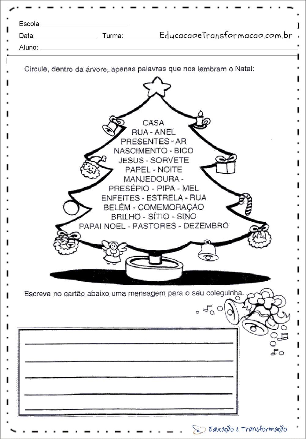 atividades de natal para educacao infantil para imprimir series iniciais atividades de natal para educacao