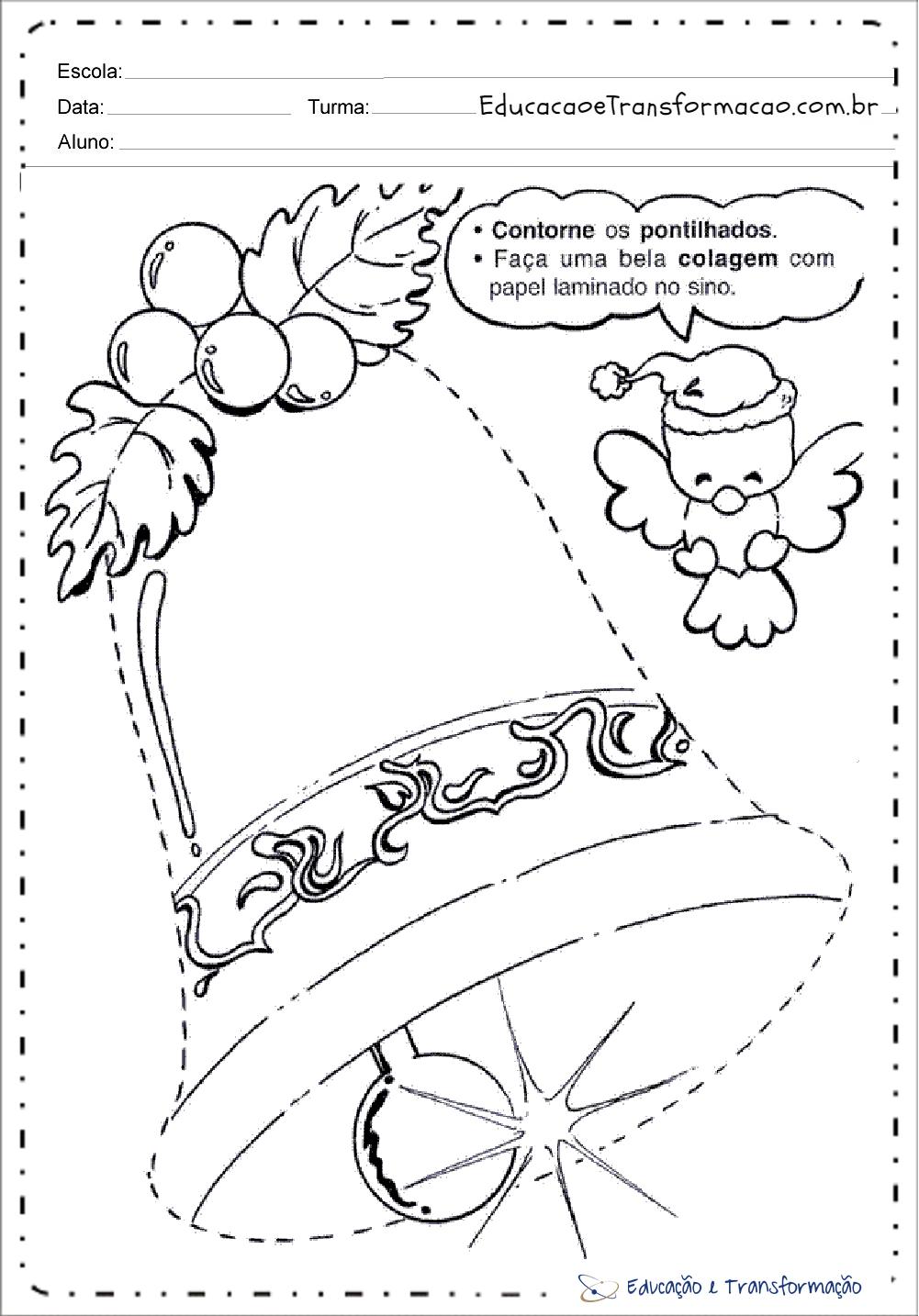 Conhecido de Natal para educação infantil - Para imprimir - Series Iniciais CY04