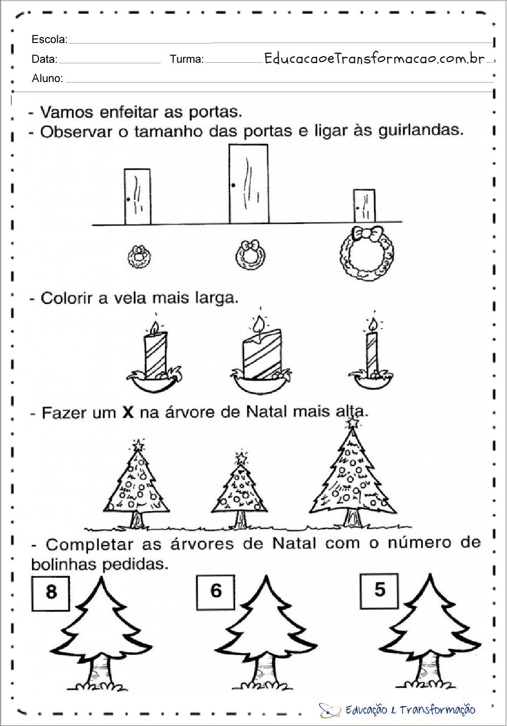 Extremamente de Natal para educação infantil - Para imprimir - Series Iniciais XM14