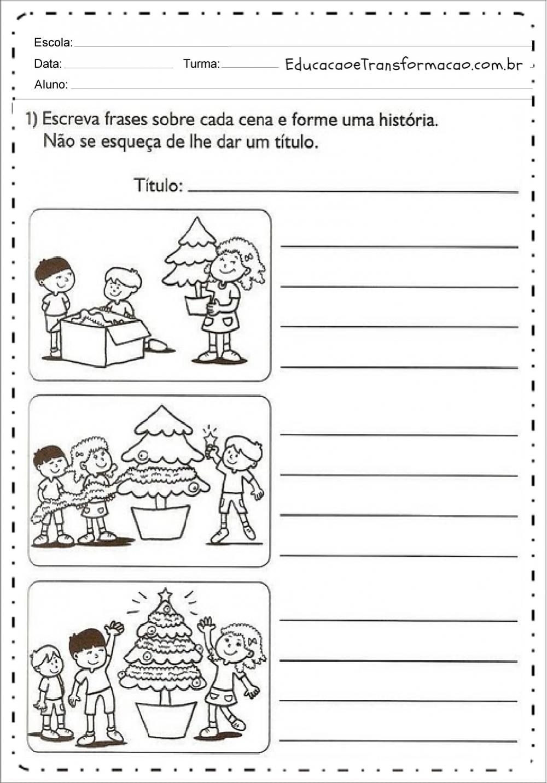 Atividades de Produção de texto para o Natal para Ensino Fundamental