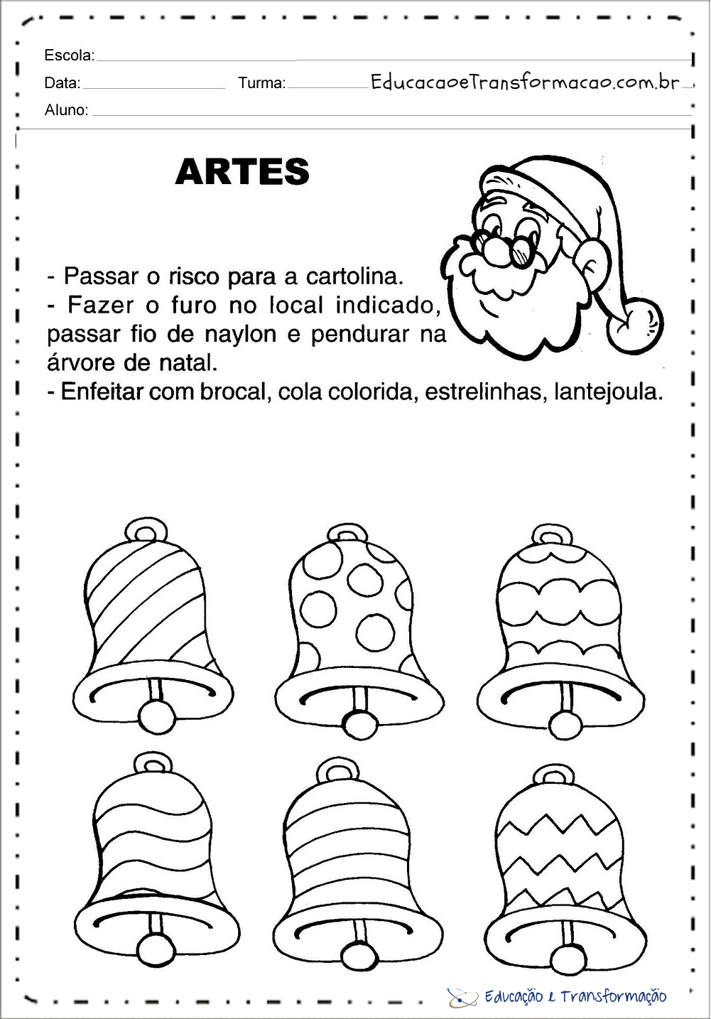 Atividades sobre Natal para series iniciais - Para Imprimir e Colorir