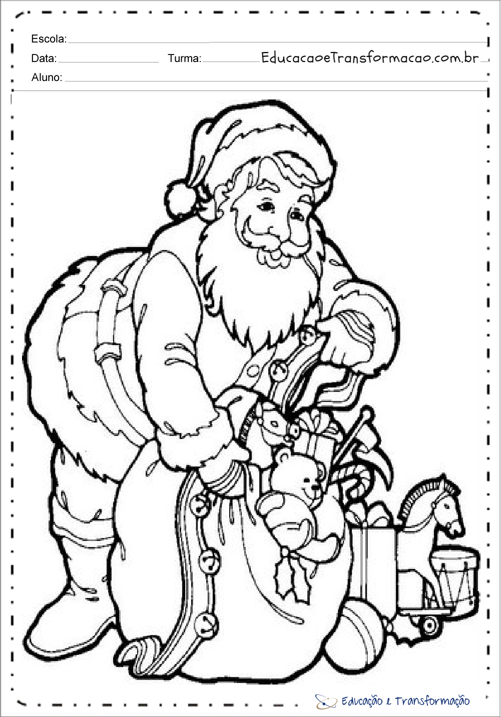 Desenhos De Papai Noel Para Colorir Para Imprimir Desenhos