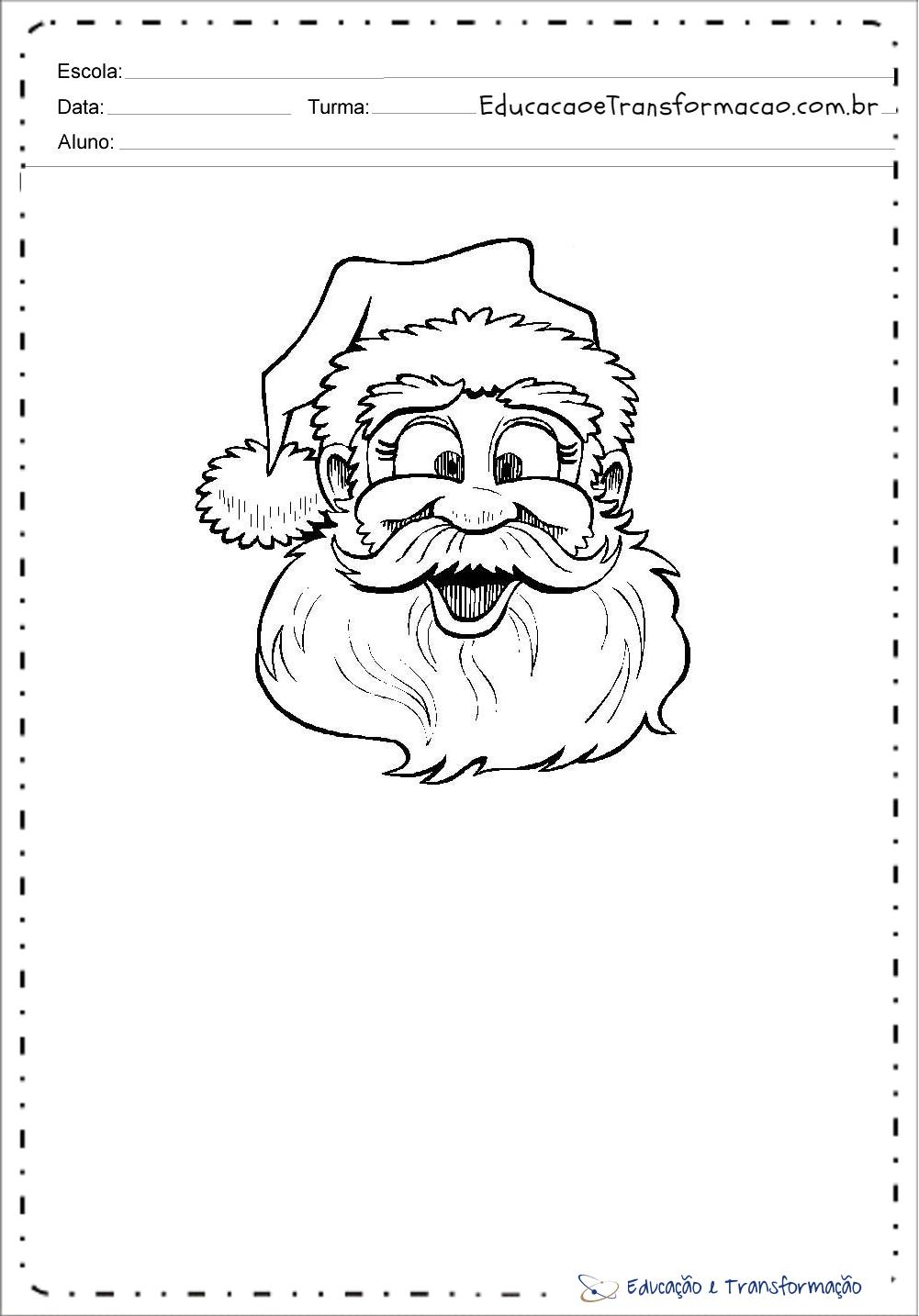 Desenhos de Papai Noel para colorir.