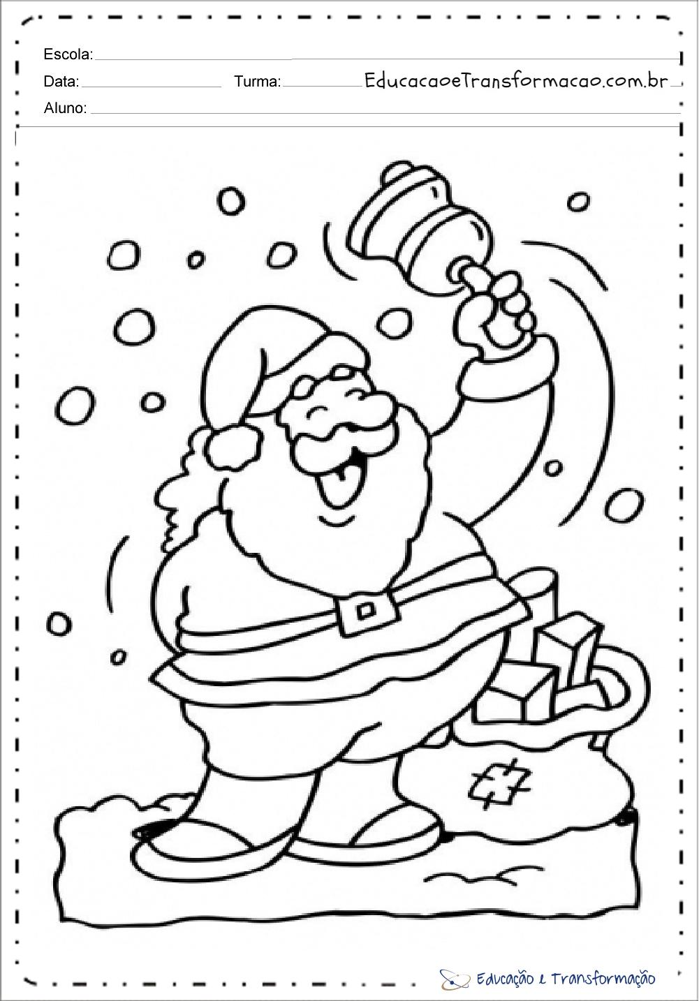 Desenhos De Papai Noel Para Colorir Para Imprimir