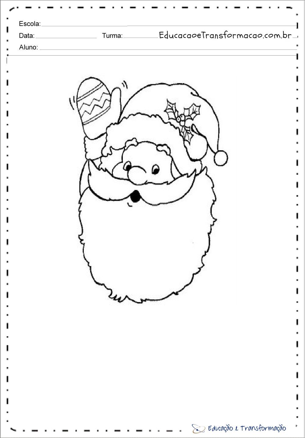 Desenhos de Papai Noel para colorir - Para imprimir - Desenhos Natalinos