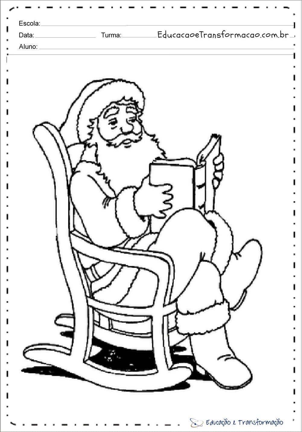Desenhos De Papai Noel Para Colorir Para Imprimir Educacao E