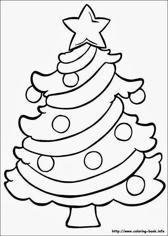 Arvore de Natal – Desenhos do Natal para Colorir.