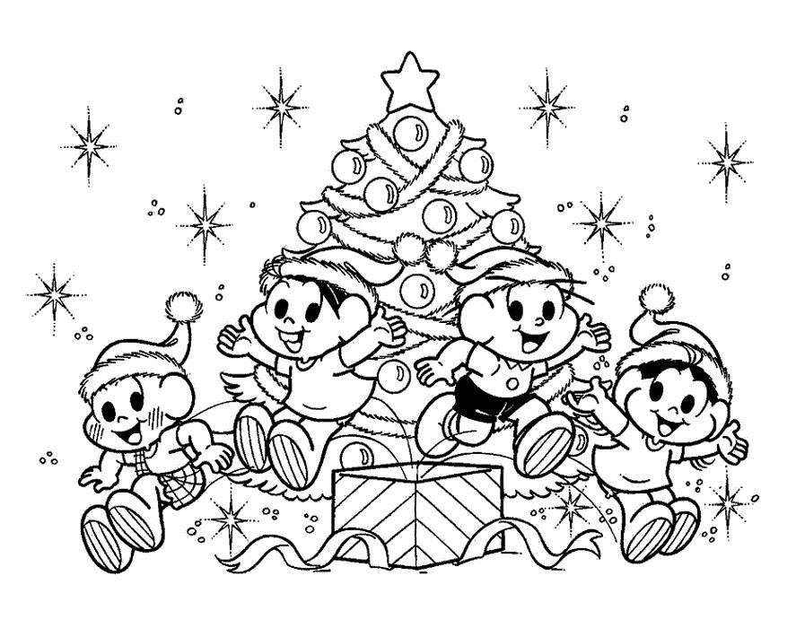 Turma Da Monica Desenhos Do Natal Para Colorir Educacao E