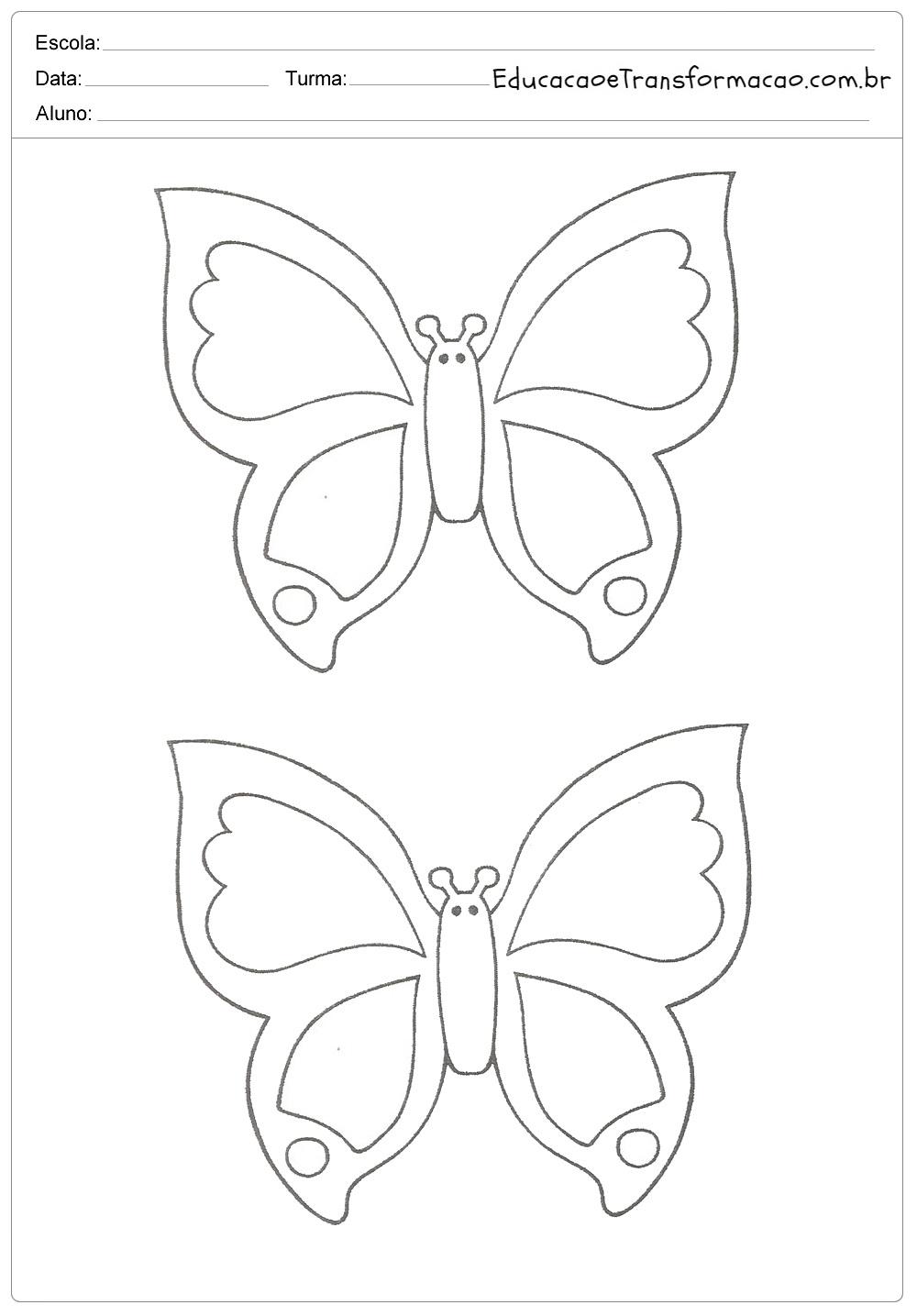 Moldes de Borboletas para imprimir - Para EVA e Feltro