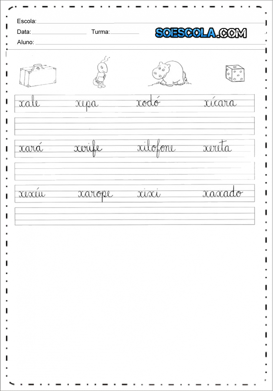 Atividades com Letra Cursiva - Atividades Educativas de Caligrafia