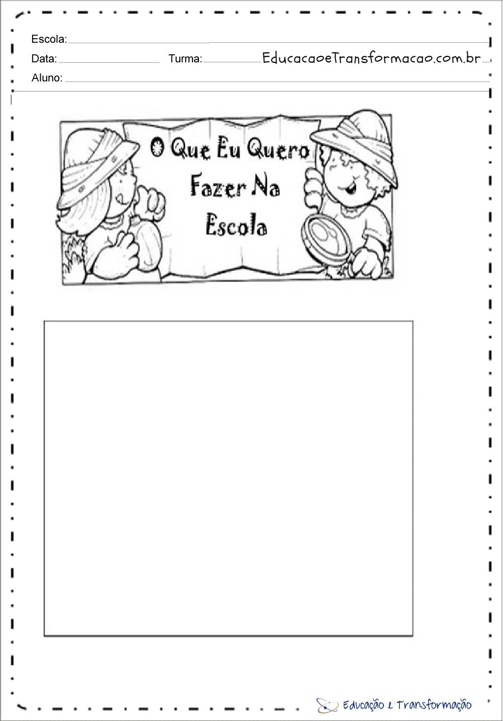 Atividades de Produção de Texto para Volta às Aulas - Minhas Férias