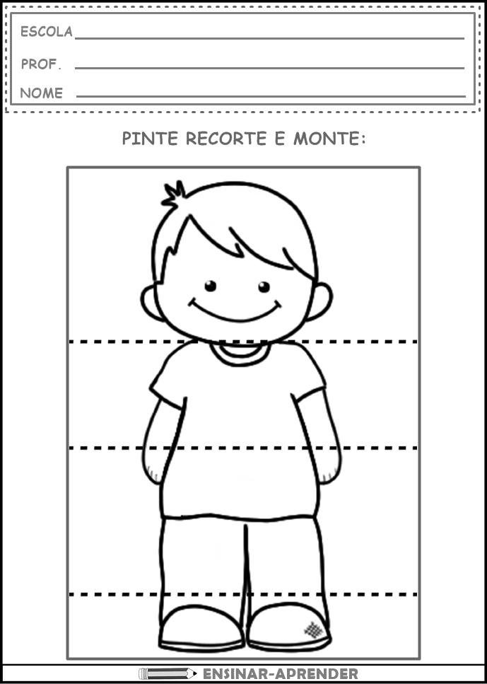 Atividades identidade e autonomia para Educação Infantil