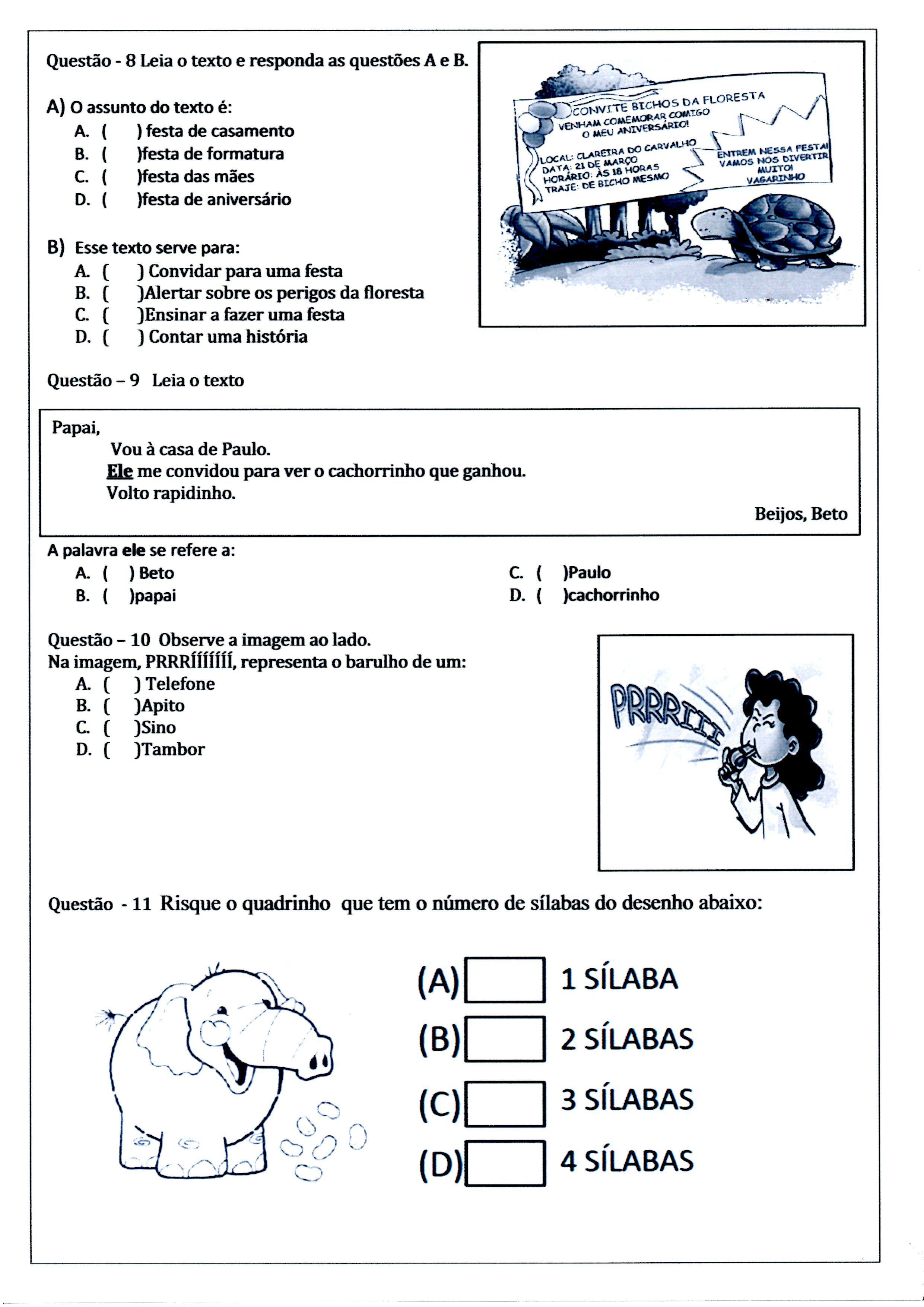 Populares Avaliação Diagnóstica 3 ano de Português e Matemática - PDF e WORD TA42