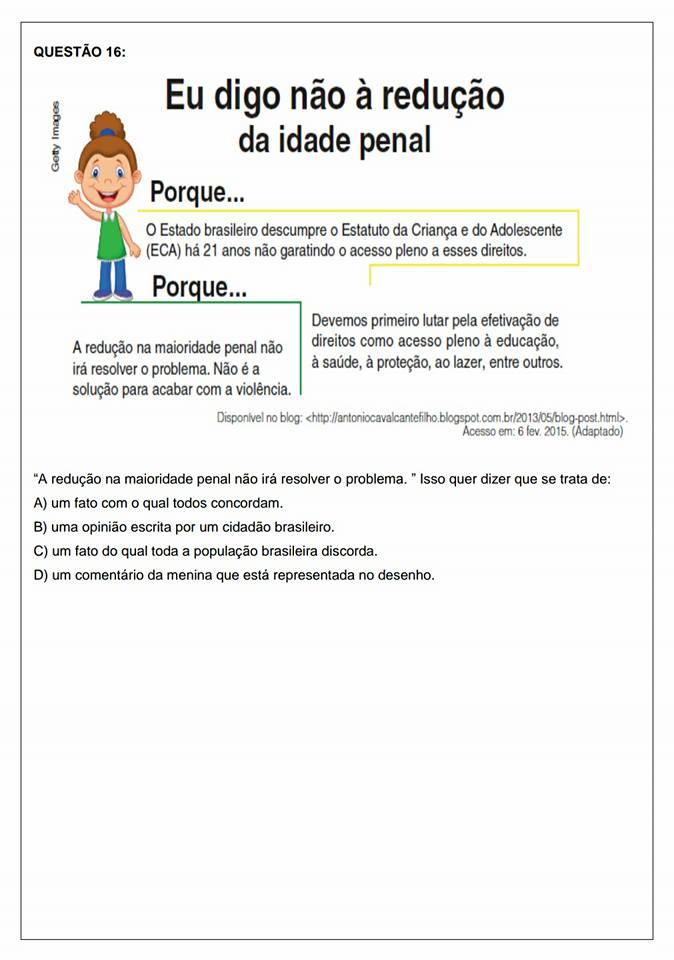 Avaliação Diagnóstica 5 ano de Português e Matemática