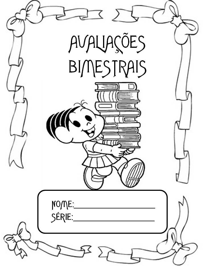 Capas para caderno – Avaliações Bimestrais da Turma da Mônica