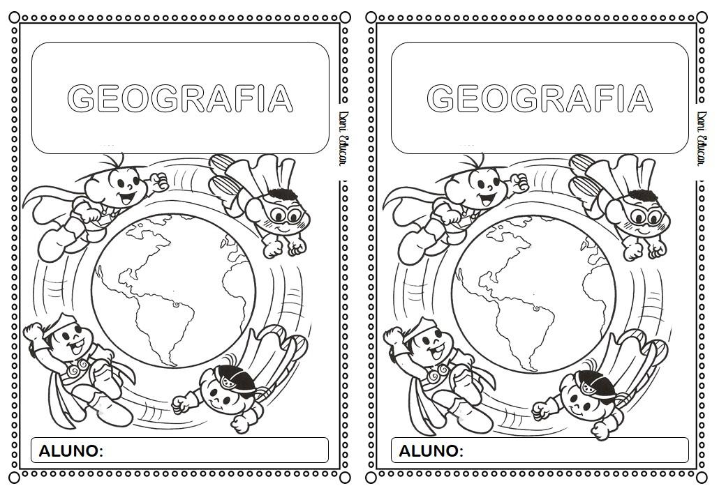 Capa para caderno de Geografia:
