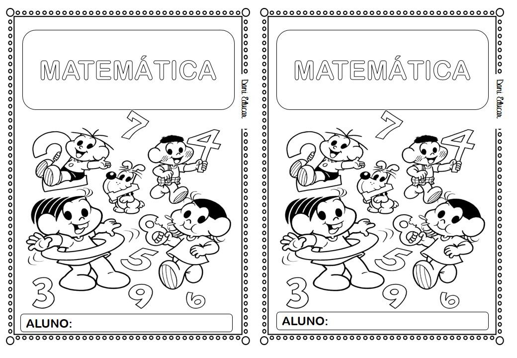 Capa para caderno de Matemática: