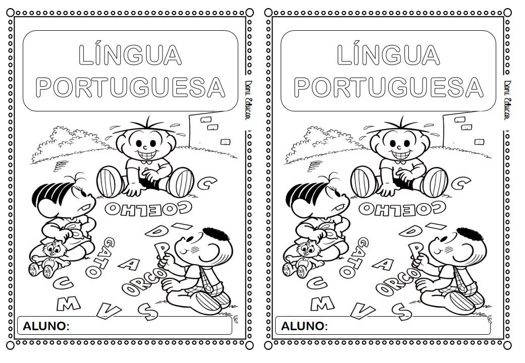 Capa Para Caderno De Portugues Educacao E Transformacao