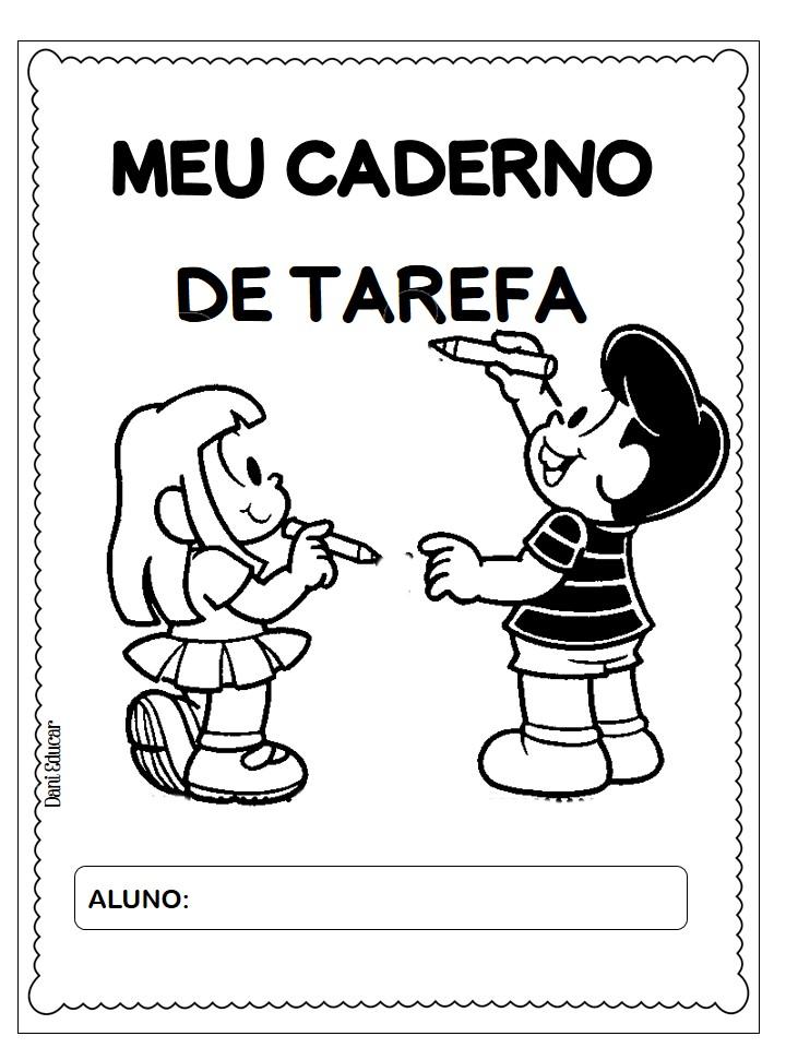 Capa Caderno De Tarefa Para Imprimir Educacao E Transformacao