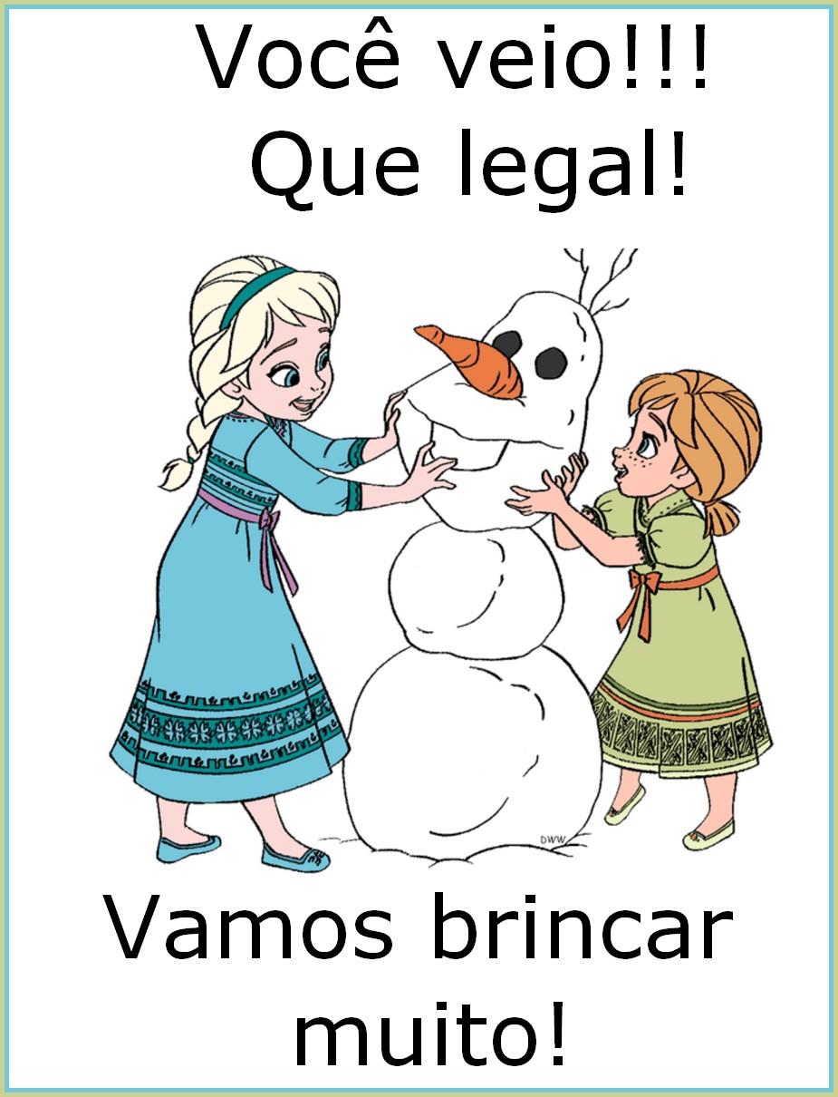 Cartaz de boas vindas do Frozen – Vamos brincar