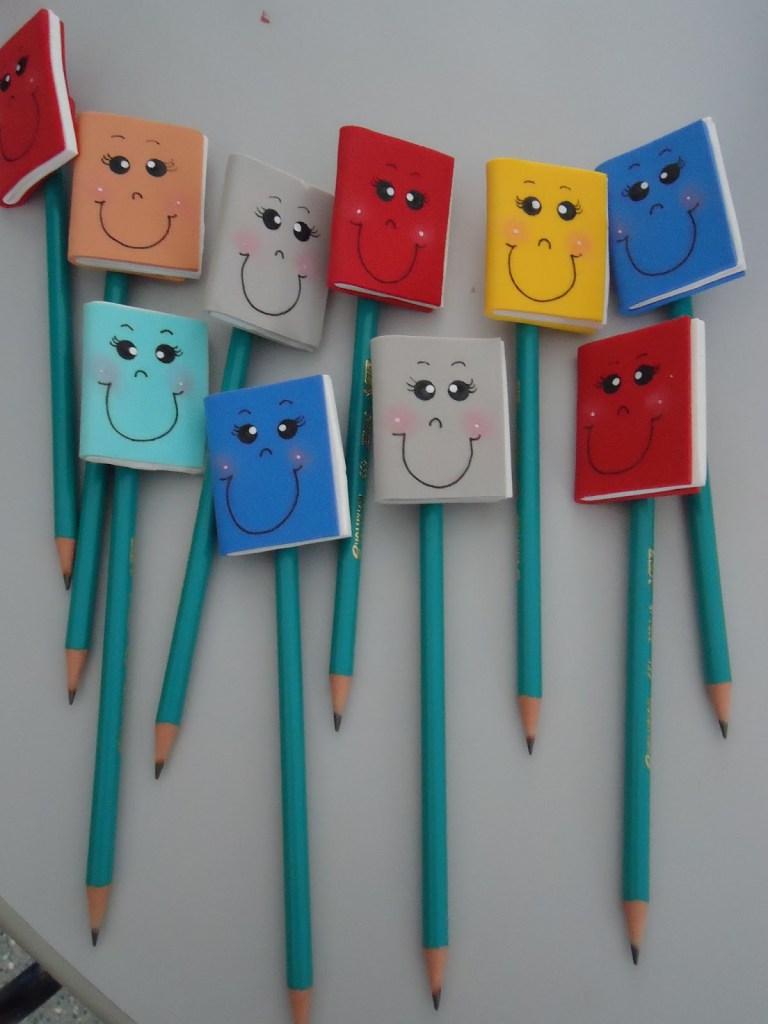 Lembrancinhas volta as aulas com moldes – Ponteira de Lápis