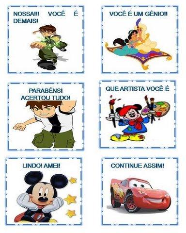 Modelos de Incentivos Ilustrados com personagens de desenho