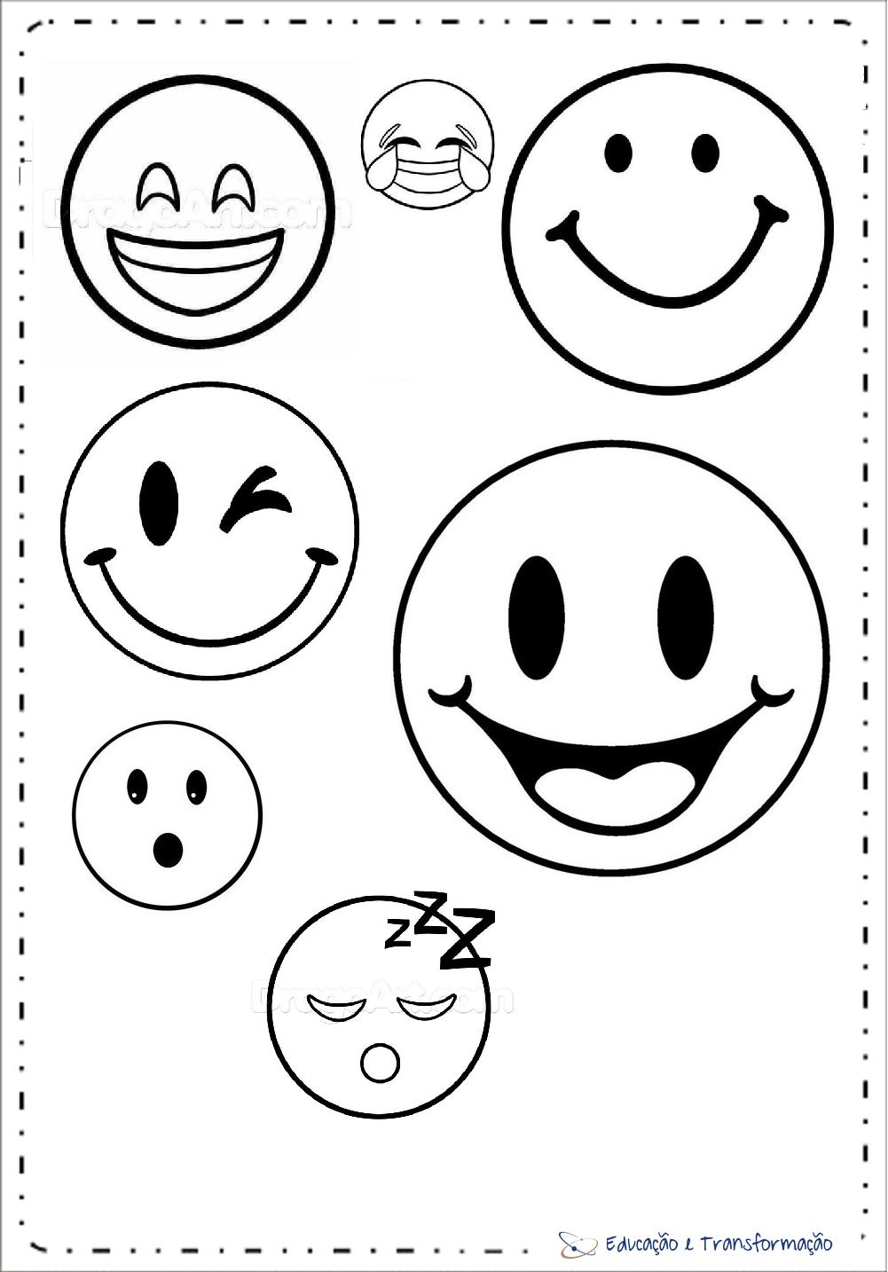 Moldes De Emoji Para Imprimir Eva E Feltro Artesanato E Decoracao
