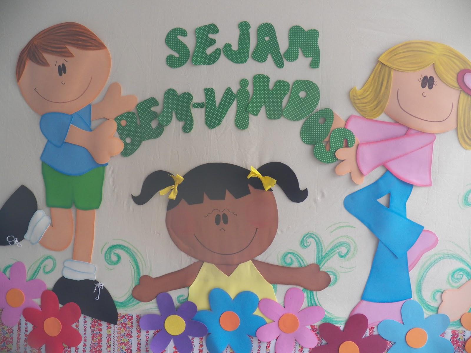 Painéis Bem Vindos com Moldes para Educação Infantil - Eva ou Feltro