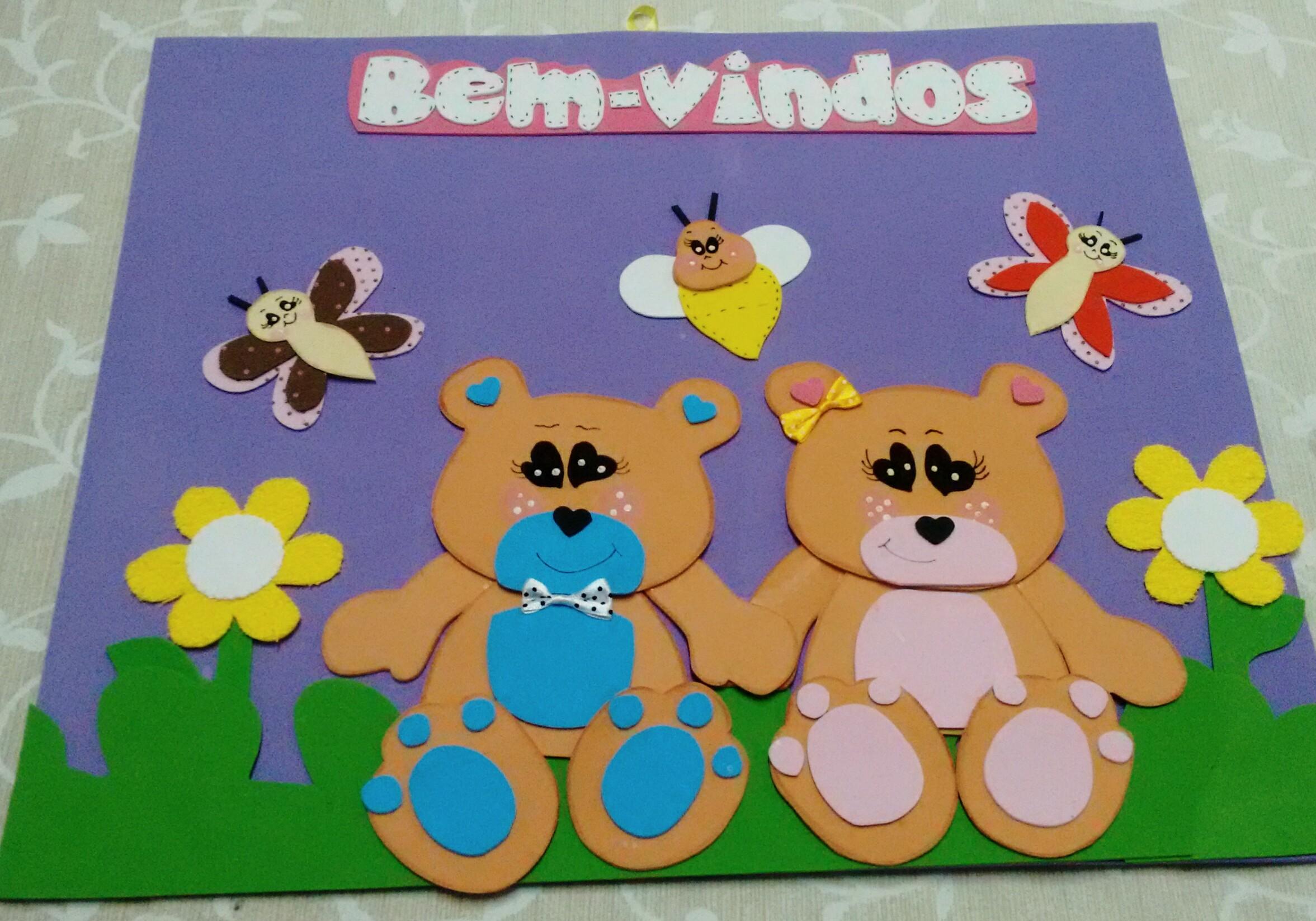 Painéis Bem Vindos em Eva com moldes - Murais e Cartazes em EVA