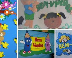 Painéis Bem Vindos com Moldes para Educação Infantil