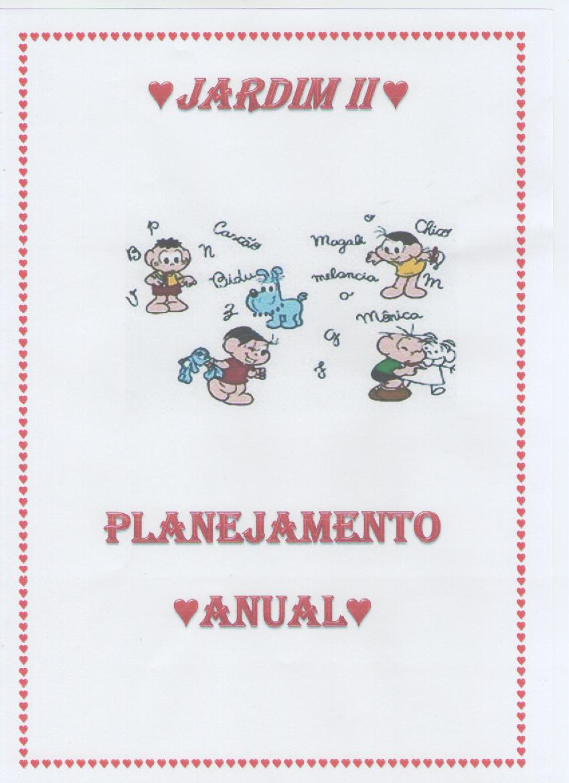 Planejamento Anual para Jardim 2 – Para imprimir