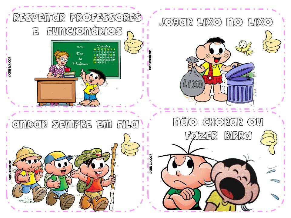 Regrinhas e Combinados para Educação Infantil