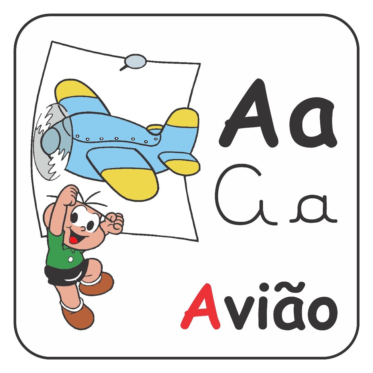 Alfabeto ilustrado da Turma da Mônica – Letra A